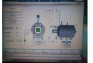 Hình 4.10. Màn hình mô phỏng quá trình điều khiển quy trình nhiệt luyện